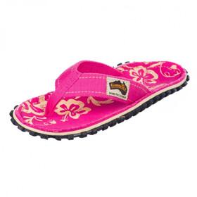GUMBIES Islander Teenslippers Kinderen, pink hibiscus